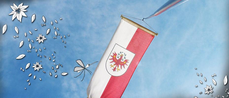 Fahne vor der Hütte